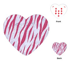 SKIN3 WHITE MARBLE & PINK DENIM (R) Playing Cards (Heart)