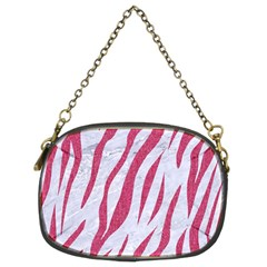 SKIN3 WHITE MARBLE & PINK DENIM (R) Chain Purses (Two Sides)