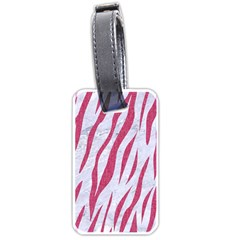 SKIN3 WHITE MARBLE & PINK DENIM (R) Luggage Tags (One Side)