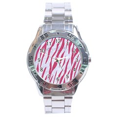 SKIN3 WHITE MARBLE & PINK DENIM (R) Stainless Steel Analogue Watch