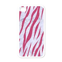 Skin3 White Marble & Pink Denim (r) Apple Iphone 4 Case (white) by trendistuff