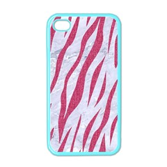 SKIN3 WHITE MARBLE & PINK DENIM (R) Apple iPhone 4 Case (Color)