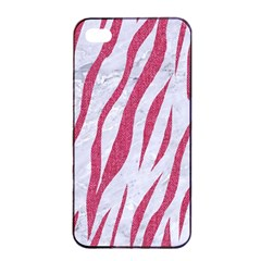 Skin3 White Marble & Pink Denim (r) Apple Iphone 4/4s Seamless Case (black) by trendistuff