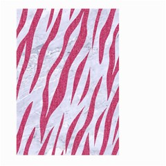 SKIN3 WHITE MARBLE & PINK DENIM (R) Large Garden Flag (Two Sides)