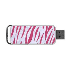 SKIN3 WHITE MARBLE & PINK DENIM (R) Portable USB Flash (Two Sides)