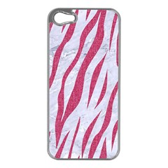 Skin3 White Marble & Pink Denim (r) Apple Iphone 5 Case (silver) by trendistuff