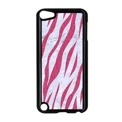 SKIN3 WHITE MARBLE & PINK DENIM (R) Apple iPod Touch 5 Case (Black)