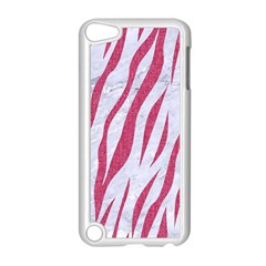 SKIN3 WHITE MARBLE & PINK DENIM (R) Apple iPod Touch 5 Case (White)
