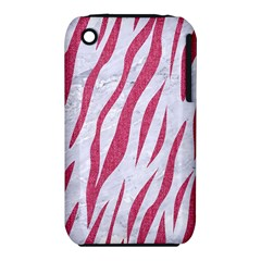 Skin3 White Marble & Pink Denim (r) Iphone 3s/3gs by trendistuff