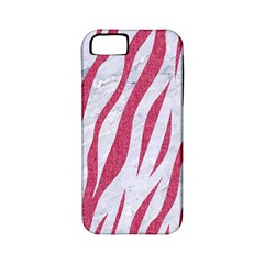 SKIN3 WHITE MARBLE & PINK DENIM (R) Apple iPhone 5 Classic Hardshell Case (PC+Silicone)