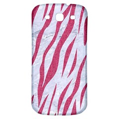 SKIN3 WHITE MARBLE & PINK DENIM (R) Samsung Galaxy S3 S III Classic Hardshell Back Case