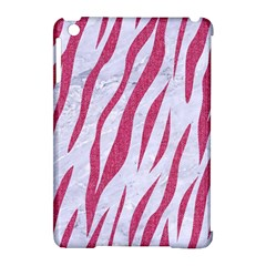 SKIN3 WHITE MARBLE & PINK DENIM (R) Apple iPad Mini Hardshell Case (Compatible with Smart Cover)