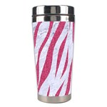 SKIN3 WHITE MARBLE & PINK DENIM (R) Stainless Steel Travel Tumblers Center
