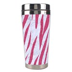SKIN3 WHITE MARBLE & PINK DENIM (R) Stainless Steel Travel Tumblers Right