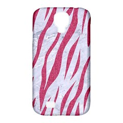 Skin3 White Marble & Pink Denim (r) Samsung Galaxy S4 Classic Hardshell Case (pc+silicone)