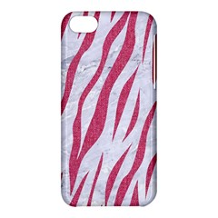 Skin3 White Marble & Pink Denim (r) Apple Iphone 5c Hardshell Case by trendistuff