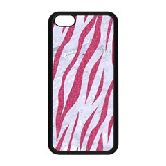 Skin3 White Marble & Pink Denim (r) Apple Iphone 5c Seamless Case (black) by trendistuff