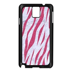 Skin3 White Marble & Pink Denim (r) Samsung Galaxy Note 3 N9005 Case (black)