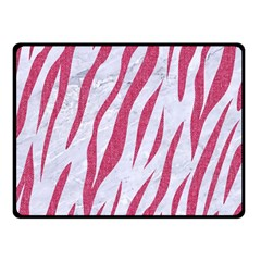 SKIN3 WHITE MARBLE & PINK DENIM (R) Double Sided Fleece Blanket (Small)