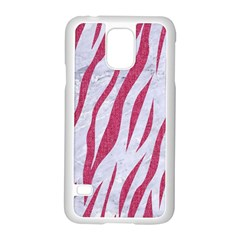 Skin3 White Marble & Pink Denim (r) Samsung Galaxy S5 Case (white)