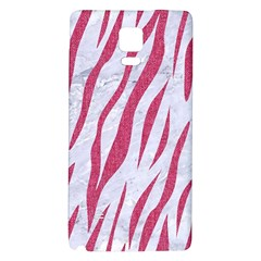 Skin3 White Marble & Pink Denim (r) Galaxy Note 4 Back Case by trendistuff