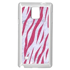 Skin3 White Marble & Pink Denim (r) Samsung Galaxy Note 4 Case (white) by trendistuff