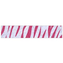 SKIN3 WHITE MARBLE & PINK DENIM (R) Small Flano Scarf