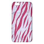 SKIN3 WHITE MARBLE & PINK DENIM (R) iPhone 6 Plus/6S Plus TPU Case Front