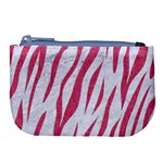SKIN3 WHITE MARBLE & PINK DENIM (R) Large Coin Purse Front