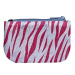 SKIN3 WHITE MARBLE & PINK DENIM (R) Large Coin Purse Back