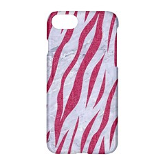 Skin3 White Marble & Pink Denim (r) Apple Iphone 8 Hardshell Case