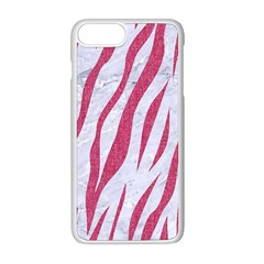 Skin3 White Marble & Pink Denim (r) Apple Iphone 8 Plus Seamless Case (white) by trendistuff