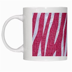 SKIN3 WHITE MARBLE & PINK DENIM White Mugs