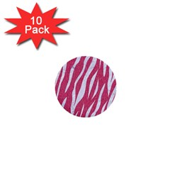 SKIN3 WHITE MARBLE & PINK DENIM 1  Mini Buttons (10 pack)