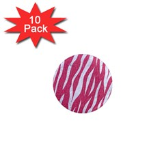 SKIN3 WHITE MARBLE & PINK DENIM 1  Mini Magnet (10 pack)