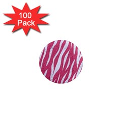 SKIN3 WHITE MARBLE & PINK DENIM 1  Mini Magnets (100 pack)