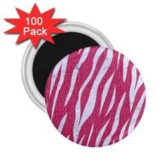 Skin3 White Marble & Pink Denim 2 25  Magnets (100 Pack)