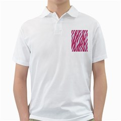 SKIN3 WHITE MARBLE & PINK DENIM Golf Shirts