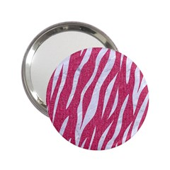 SKIN3 WHITE MARBLE & PINK DENIM 2.25  Handbag Mirrors