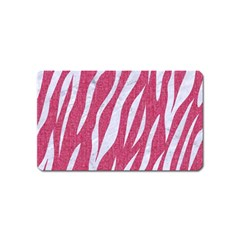 SKIN3 WHITE MARBLE & PINK DENIM Magnet (Name Card)