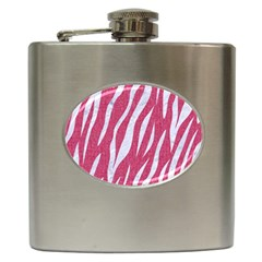 SKIN3 WHITE MARBLE & PINK DENIM Hip Flask (6 oz)