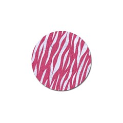 Skin3 White Marble & Pink Denim Golf Ball Marker (10 Pack) by trendistuff