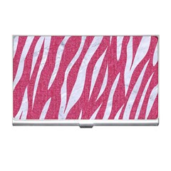 Skin3 White Marble & Pink Denim Business Card Holders