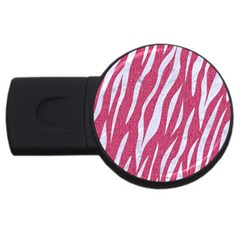 Skin3 White Marble & Pink Denim Usb Flash Drive Round (2 Gb) by trendistuff