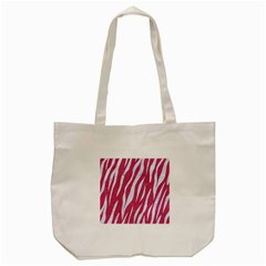 SKIN3 WHITE MARBLE & PINK DENIM Tote Bag (Cream)