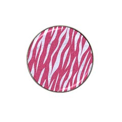SKIN3 WHITE MARBLE & PINK DENIM Hat Clip Ball Marker