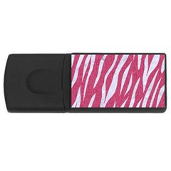 SKIN3 WHITE MARBLE & PINK DENIM Rectangular USB Flash Drive