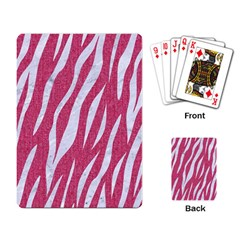 SKIN3 WHITE MARBLE & PINK DENIM Playing Card