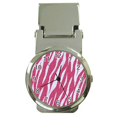 SKIN3 WHITE MARBLE & PINK DENIM Money Clip Watches