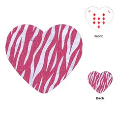 Skin3 White Marble & Pink Denim Playing Cards (heart)  by trendistuff